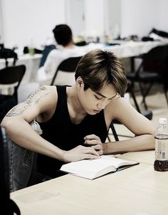 Learn Korean (with Exo's Kai) Korean Words Learning, Korean Language Learning, Exo Kai, Chanyeol, Learn To Speak Korean, Korean Phrases, Korean Text, Korean Guys, Learn Hangul