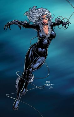 Black Cat by boysicat XGX by knytcrawlr on DeviantArt Comic Movies, Comic Book Characters, Marvel Characters, Comic Books Art, Comic Book Artists, Comic Art, Spiderman Black Cat, Black Cat Marvel, Avengers Girl