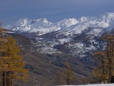 The first snowfall on the peaks.