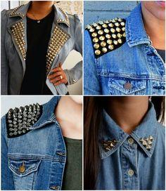 Studded Denim Jackets, Diy Jackets