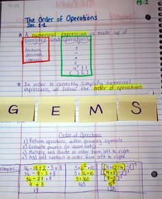 Middle School Math Madness!: Order of Operations  Makes more sense than PEMDAS once you get  into algebraic expressions