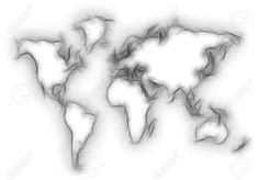 World Map Silhouette, Stock Photos, Wall Ideas, Tattoo, Maps, Mural Ideas, Tattoos, Tattos, A Tattoo