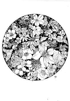 Summer Strawberries Ink Illustration on Behance Flower Sketches, Art Sketches, Art Drawings, Ink Illustrations, Illustration Art, Arte Hippy, Black And White Art Drawing, Black And White Illustration, Strawberry Art