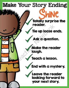 Make Your Story Endings Shine from Teaching with TLC on TeachersNotebook.com (1 page)  - Make your story endings shine by using these creative writing tips.