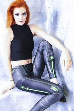 Living Dead Clothing Debuts A New Sci-Fi Collection Geek Fashion, Fashion Beauty, Yoga Leggings, Leggings Are Not Pants, Living Dead Clothing, Redheads Freckles, Daytime Outfit, Cool Outfits, Fashion Outfits