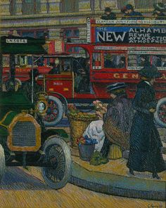 GINNER, Charles (1878-1952), UK artist: -- 'Piccadilly Circus' 1912.