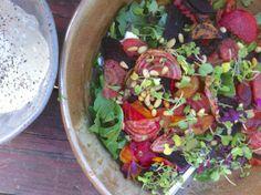 Beet, arugula and French feta salad
