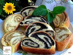 Useful articles and recipes: Zala ruffled poppy-walnut strudel Strudel, Hot Dog Buns, Sushi, Muffin, Sweets, Bread, Cookies, Breakfast, Cake