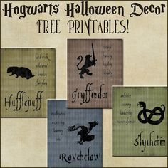 Hogwarts Houses Printables. It's somthing like this I have in mind for the tables.