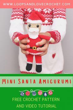 Love Crochet, Crochet Gifts, Crochet Toys, Christmas Crochet Patterns, Holiday Crochet, Crochet Animal Amigurumi, Crochet Animals, Single Crochet Decrease, Santa Crafts