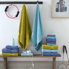 Christy Supreme Hygro 650gsm Cotton Towels - Green Tea - Blue