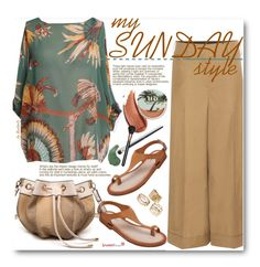 """""""Spring Sunday Style"""" by beebeely-look ❤ liked on Polyvore featuring Valentino, Urban Decay, N°21, MAC Cosmetics, casual, sammydress, springfashion, casuallook and oversizedflorals"""
