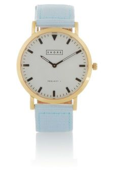 Finds | + Shore Projects gold-plated, grosgrain and leather watch | NET-A-PORTER.COM