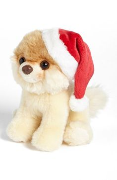 This might actually be the cutest thing we've ever seen! Gund 'Itty Bitty Boo - Santa Hat' Stuffed Animal | Nordstrom