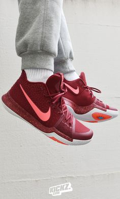 The Kyrie 3 'Red Hot Punch' drops this Saturday and is as hot as Kyrie's Game this Season!