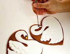 Seven-Swans-a-Swimming Christmas cookies (from 12 Days of Christmas cookie series), via Sweet Adventures of Sugarbelle.