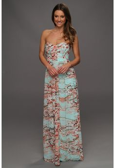 Cherry blossom flower print silk dress. Formal. Summer wedding ...