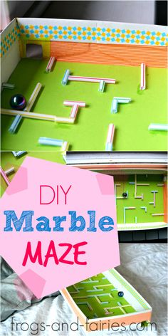DIY Marble Maze - Easy and Fun for All ages! - Frogs and Fairies