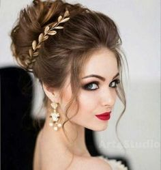 wedding hairstyles half up half down; wedding hairstyles for long hair; Wedding Hair And Makeup, Bridal Makeup, Hair Makeup, Bridal Updo, Bridal Hair Buns, Makeup Shop, Hair Accessories For Women, Bride Hairstyles, Hairstyle Ideas