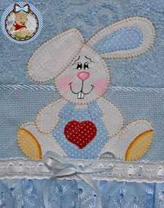 Read at : Timdiy.com Applique Embroidery Designs, Machine Embroidery Patterns, Applique Patterns, Applique Quilts, Quilt Patterns, Quilting Projects, Sewing Projects, Pinterest Crafts, Bunny Face
