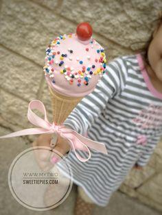 Ice cream cone cake pop