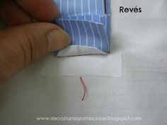 De costuras y otras cosas: CIERRE POLO CLÁSICO (3) Sewing Hacks, Sewing Tutorials, Sewing Projects, Sewing Patterns, Sewing Tips, Techniques Couture, Sewing Techniques, Sewing Collars, Sew Mama Sew