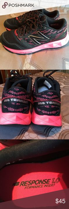 New Balance all terrain sneakers Ladies sized 6 New Balance all terrain sneaks with response performance inserts.  Black and pink.  New without box New Balance Shoes Athletic Shoes
