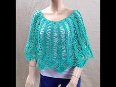 ESPAÑOL Crochet Fácil Capita Poncho + RIFA - YouTube