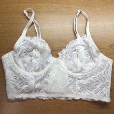 NWOT BRALETTE White bralette. Washed but never worn. Make an offer! Intimates & Sleepwear Bras