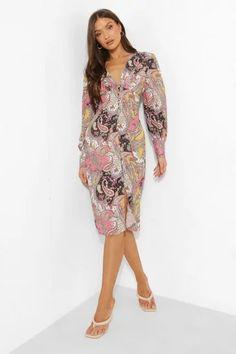 Dresses   Womens Dresses Online   boohoo UK Midi Skater Dress, Pink Midi Dress, Wrap Dress Floral, Skater Dresses, Long Sleeve Smock Dress, Belted Shirt Dress, Midi Dress With Sleeves, Maxis, Skater Bridesmaids Dresses