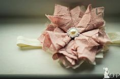 Vintage inspired shabby chic dusty rose and by 3cutiepiesbowtique, $16.99