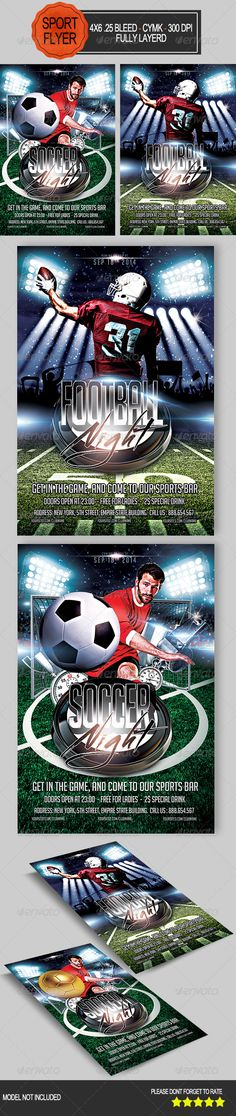 Free Football Sports Flyer Template design Pinterest Flyer - soccer flyer template