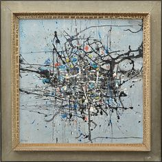 """ANTONIO BANDEIRA - """" Abstrato """", O.S.C, assinado no canto inferior esquerdo e datado de 1962"""