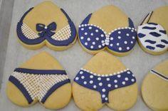 Bikini Cookies Summer Cookies, Fancy Cookies, Iced Cookies, Cut Out Cookies, Cute Cookies, Cupcake Cookies, Cookie Icing, Royal Icing Cookies, Bikini Cookies