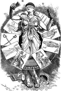 Wheel of Fortune Wheel Of Fortune Tarot, Luck Tattoo, Tarot Tattoo, Greek Pantheon, Elves Fantasy, Tarot Major Arcana, Floor Murals, Occult, Deities