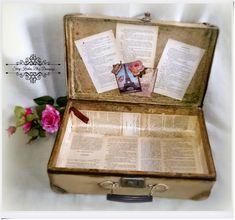 viejo armario blog decoupage maleta vieja franc s. Black Bedroom Furniture Sets. Home Design Ideas
