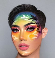 Creative Makeup Looks, Unique Makeup, Colorful Eye Makeup, Exotic Makeup, Face Paint Makeup, Eye Makeup Art, Clown Makeup, Makeup Eye Looks, Crazy Makeup