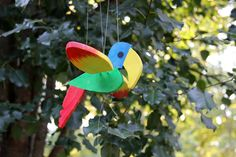 Mobile-Wooden Bird-Flying Toucan-Kinetic Mobile-Toucan with Flapping Wings-Wooden Baby Mobile. $20.00, via Etsy.
