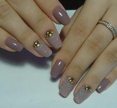 100 really cute glitter nail designs! Fabulous Nails, Perfect Nails, Gorgeous Nails, Pretty Nails, Chic Nails, Stylish Nails, Pink Nails, Gel Nails, Nail Polish