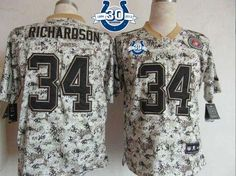 """$26.88 at """"MaryJersey""""(maryjerseyelway@gmail.com) Nike Colts #34 Trent Richardson Camo With 30TH Seasons Patch Men's Embroidered NFL Elite USMC Jersey"""