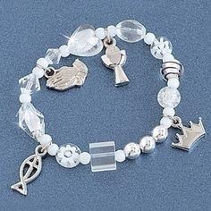 First Communion Prayer Beaded Bracelet
