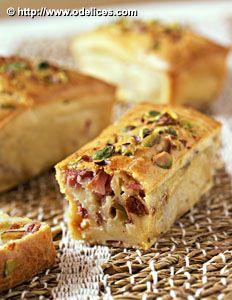 Petits cakes au jambon, tomates séchées et pistaches, la recette d'Ôdélices : retrouvez les ingrédients, la préparation, des recettes similaires et des photos qui donnent envie !