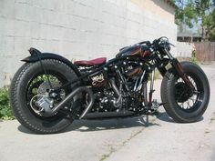 Harley Davidson custom chopper.