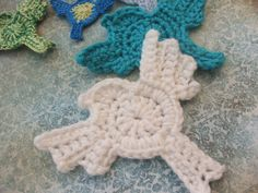 $0.99 dove in flight applique crochet pattern