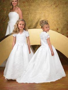 137 best flower girl dresses images on pinterest bridesmaid a line v neck chapel train satin flower girls dress lace flower girls mightylinksfo