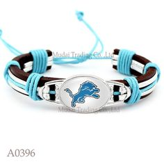Please Share This Offer Detroit Lions Cuff Bracelet This fantastic Leather cuff bracelet is designed and handmade with heart and soul. It is fastened together by an adjustable knot making it fully adj