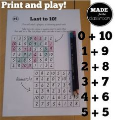 Last to 10 - Pairs to 10 practice game