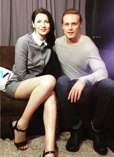 OUTLANDER Sam Heughan & Caitriona Balfe. They're adorable. 2015 SDCC.