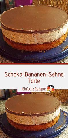 schoko bananen sahne torte sprainnews - The world's most private search engine Homemade Cheesecake, Easy Cheesecake Recipes, Easy Cookie Recipes, Easy Recipes, Banana Design, Banana Cream Cakes, Banana Dessert Recipes, Best Pie, Cookies Et Biscuits