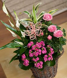 Summer Flower Basket | Flowers by post with free UK delivery | Bunches the online florist